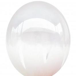 """Опция Brush шар """"Белый Браш"""" 14"""" (35 см) – фото 1"""