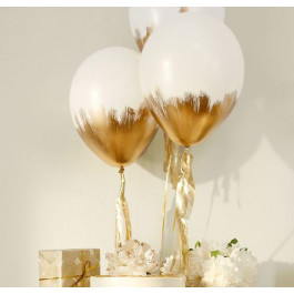 """Опция Brush шар """"Белый с золотом"""" – фото 2"""
