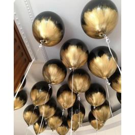 """Опция Brush шар """"Черный с золотом"""" – фото 1"""