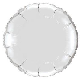 """Опция Фольгированный шар """"Круг серебряный"""" 46 см – фото 4"""
