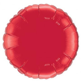 """Опция Фольгированный шар """"Круг красный"""" 46 см – фото 2"""