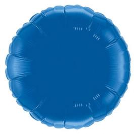 """Опция Фольгированный шар """"Круг синий"""" 46 см – фото 4"""