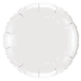"""Опция Фольгированный шар """"Круг белый"""" – фото 3"""