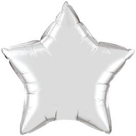 """Опция Фольгированный шар """"Большая звезда серебряная 80 см"""" – фото 2"""