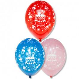 """Опция Гелиевые шары """"Торт"""" (30 см)  – фото 1"""