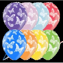 "Опция Гелиевые шары ""Бабочки (металлик)"" (35 см)  – фото 3"