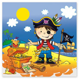 "Опция Салфетки ""Маленький Пират"" 12 шт. – фото 1"