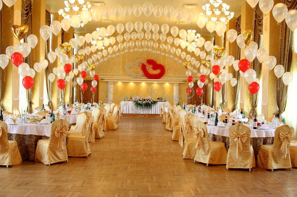 Узнать как украсить свадебный зал шарами: оформление свадьбы своими руками - фото 2