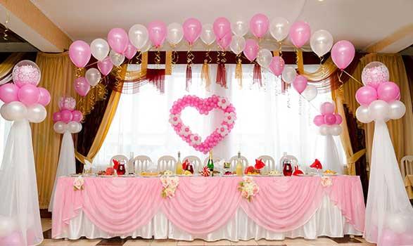 Узнать как украсить свадебный зал шарами: оформление свадьбы своими руками - фото 1